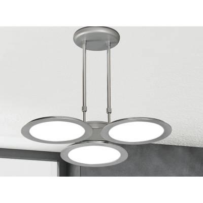 Lámpara Trébol 3x18w plata