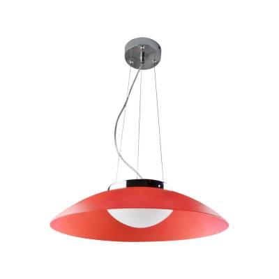Lámpara colgante LED roja Plato