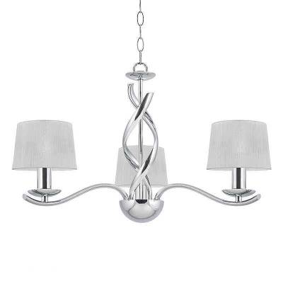 Lámpara de techo colgante Cromo, Helen 3 luces E14