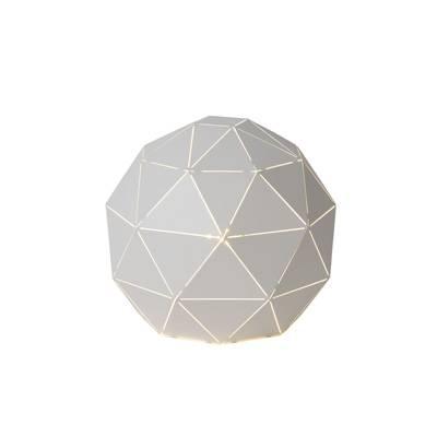 Lámpara sobremesa Triángulos blanca