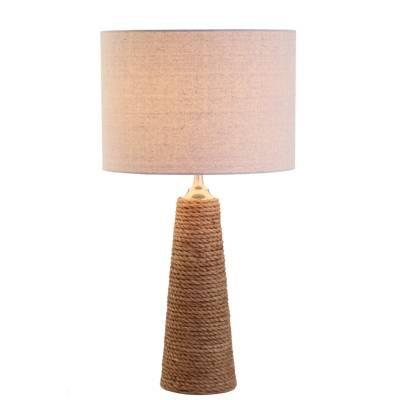 Lámpara sobremesa cuerda con pantalla, Luxe