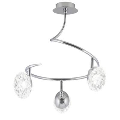 lámpara de techo colgante 3L Stella cromo