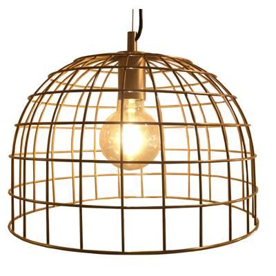 Lámpara de techo Jaula cuero ingles