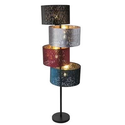 Lámpara de pie 4 pantallas Ticon