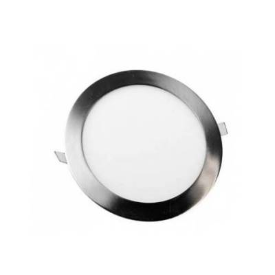 Downlight redondo 18w 6000k led níquel mate