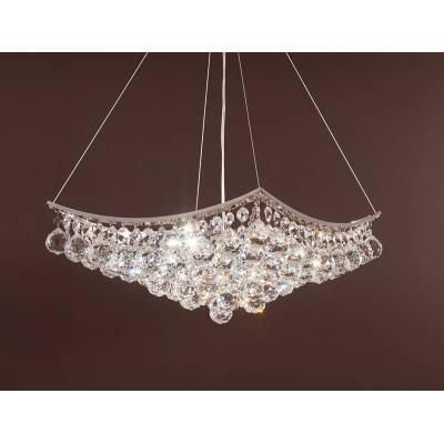 Lámpara de techo cromo con cristales