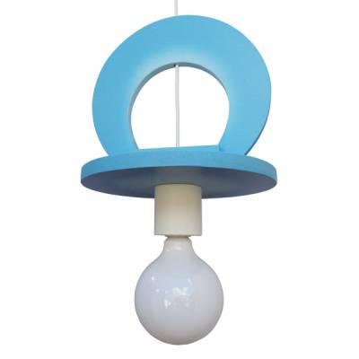 Lámpara colgante Chupete azul