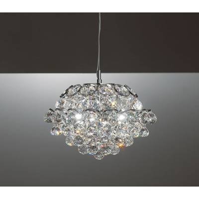 Lámpara de techo cromo con cristal