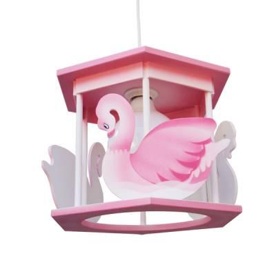 Lámpara colgante Cisne rosa