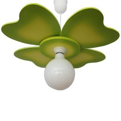 Lámpara colgante Trébol verde pistacho