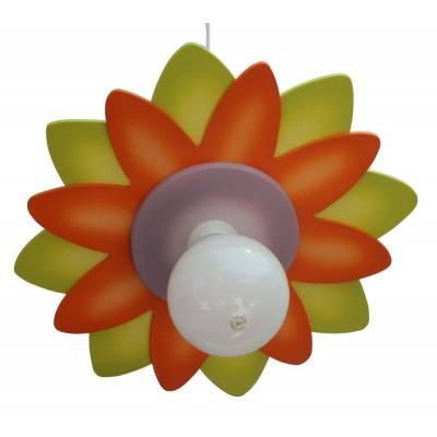 Lámpara colgante Margarita multicolor