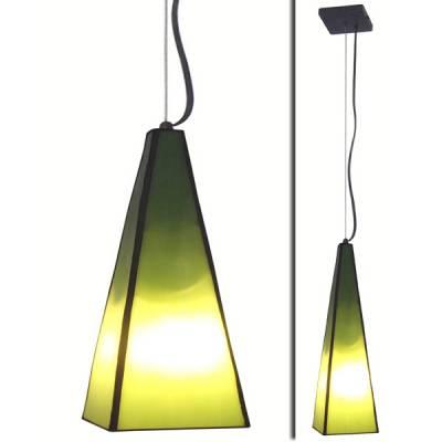 Lámpara colgante prisma verde