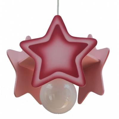 Lámpara colgante Estrella rosa