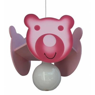 Lámpara  colgante  Osito rosa