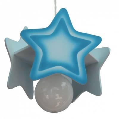 Lámpara colgante  Estrella azul