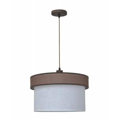 Lámpara colgante marrón + blanco