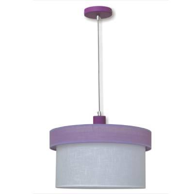Lámpara colgante combi lila + blanco