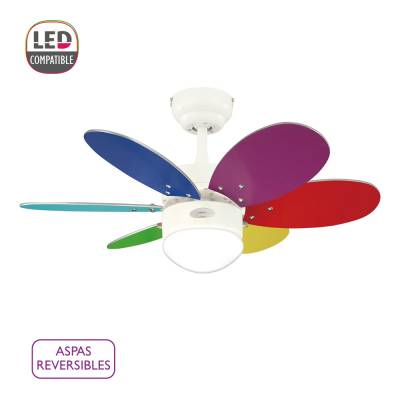 Ventilador Turbo Swirl multicolor doble aspa