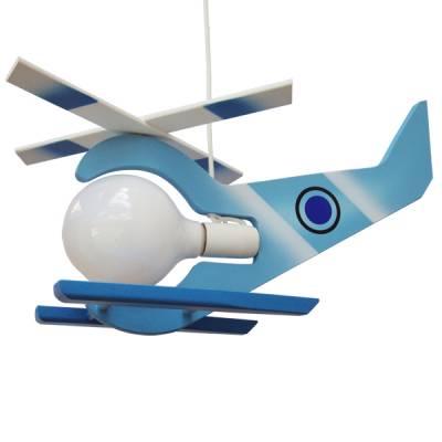 Lámpara Helicóptero libelula azul