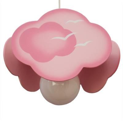 Lámpara colgante nube rosa