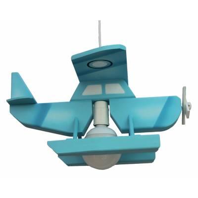 Lámpara colgante Hidoravión azul