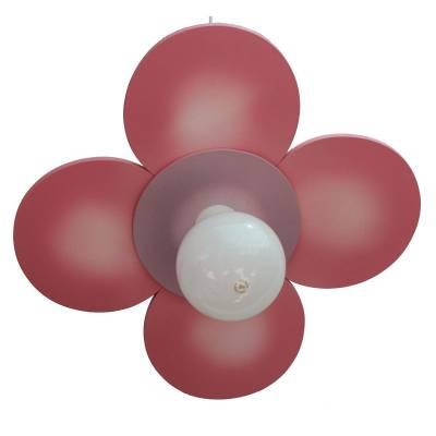 Lámpara colgante Flor plana rosa