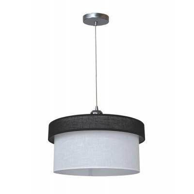 Lámpara colgante combi negro + blanco