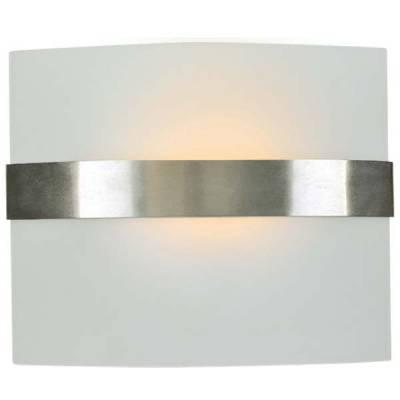 Aplique de cristal curvado, lámpara de pared cristal opal