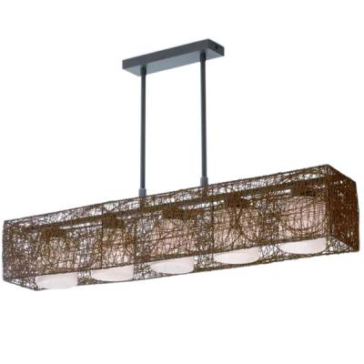 LAMPARA  ALEXANDRA 5 LUCES WENGUE