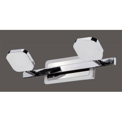 Aplique LED 2 focos cromo/blanco