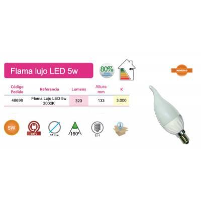 Bombilla Flama lujo LED 5W E14 luz cálida