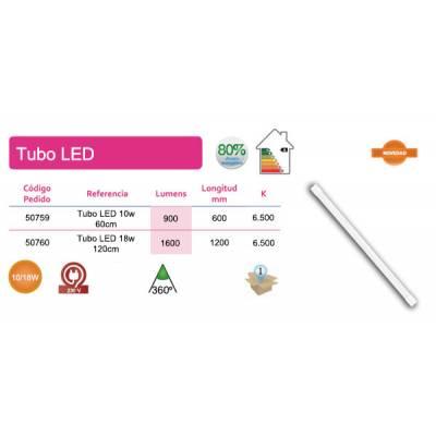 Tubo LED T8 18W 120cm