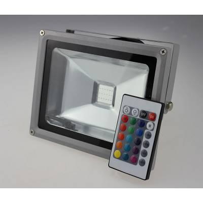 PROYECTOR 20W RGB LED CON MANDO
