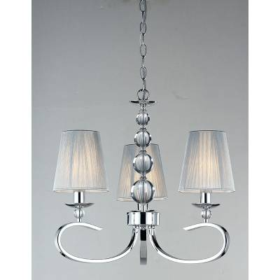 Lámpara colgante 3l cromo