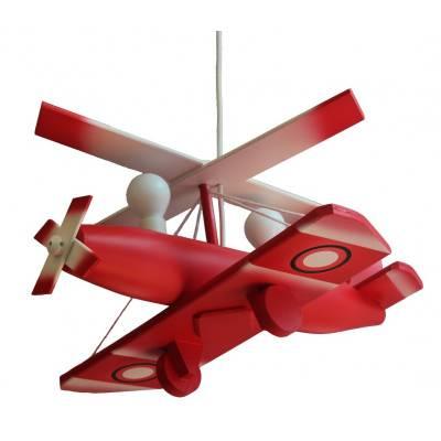 Lámpara colgante  Autogiro grande rojo
