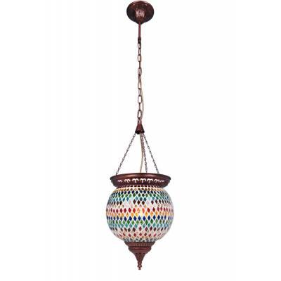 Lámpara colgante Calcuta multicolor
