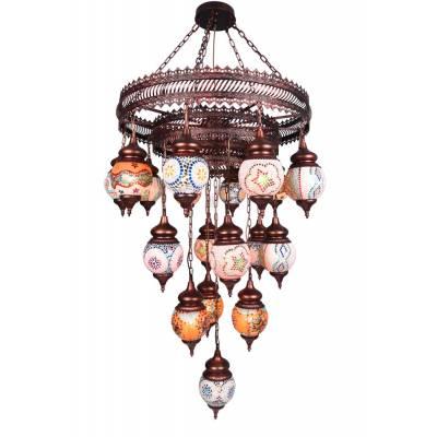 Lámpara colgante Agra multicolor