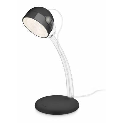 Lámpara de mesa negra LED