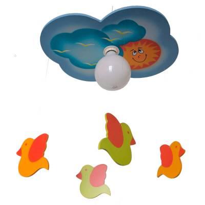 Lámpara colgante Nube parajarillos azul