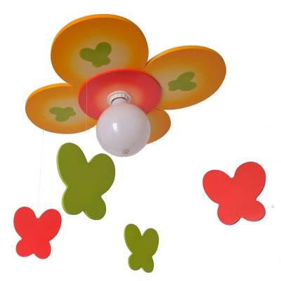 Lámpara colgante Flor mariposa multicolor
