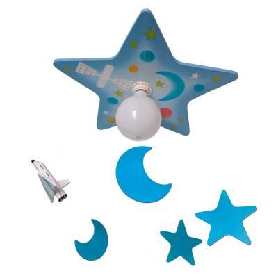 Lámpara Estrellas lanzadera azul