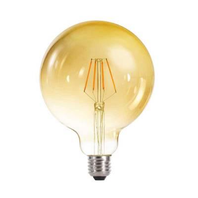 Bombilla globo 4w led filamento gold