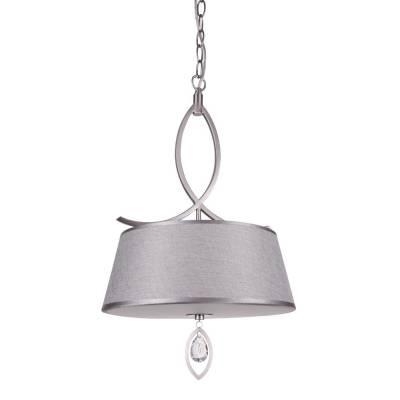 Lámpara colgante 1l níquel satinado