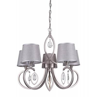 Lámpara 5l níquel satinado