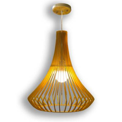 Lámpara colgante Ebro madera bronce