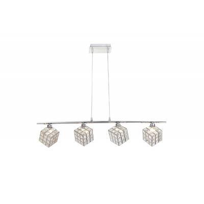 Lámpara colgante cromo 4l