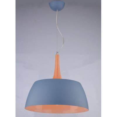 Lámpara colgante gris y madera