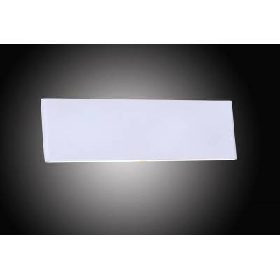 Aplique de pared metal blanco Led 12W