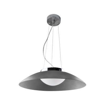 Lámpara colgante LED gris Plato