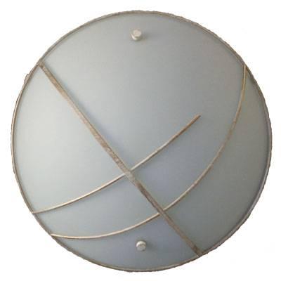 Plafón circular blanco mate